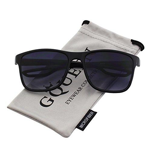 GQUEEN Retro Square Sunglasses with UV400 Protection MZE4