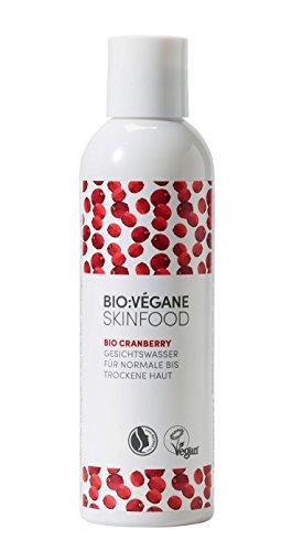 BIO:VÉGANE SKINFOOD Bio Cranberry - Gesichtswasser für normale bis trockene Haut, vegan, NATRUE-zertifiziert, Tonic speziell für feuchtigkeitsarme Haut, 1er Pack (1 x 200 ml)