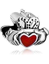 outcharmed celta amistad mejor amigo rojo corazón Charm Beads Fit Pandora pulseras
