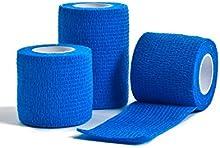 CMS Médico 7,5cm x 4,5m venda azul-Pack de 3