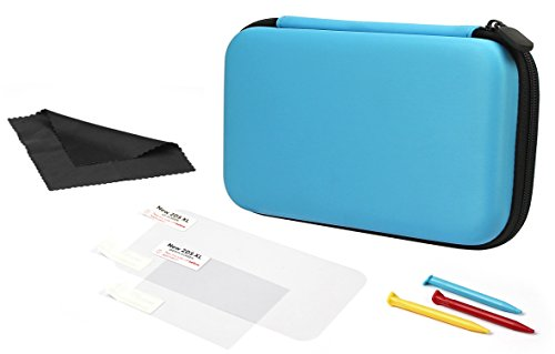 AmazonBasics - Transportetui für Nintendo 2DS XL mit 3 Stylus-Stiften und 2 Bildschirmschonern  - Türkis