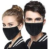 Fashiol Anti-Pollution Mask Face Masks (Pack of 2) Black