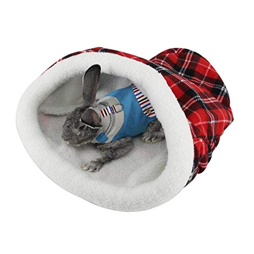 XHPWW Cama Nido para Mascotas con Sombrero navideño, Regalo de Saco de...