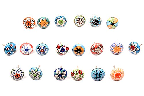 10x Mix, diseño vintage de flores Pomos de Cerámica Tirador de puerta armario cajón Pull