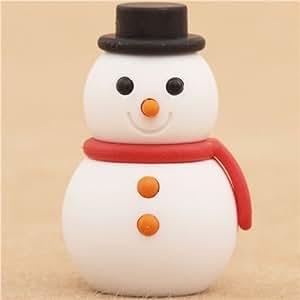 Pupazzo di neve Natale rosso gomma da Iwako dal Giappone