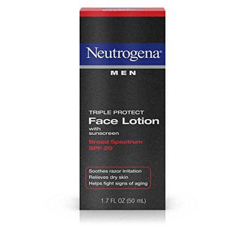 Neutrogena - Les Hommes Triple Protéger La Face, Lotion Spf 20, Formule Avancée, 1,7 Once Liquide