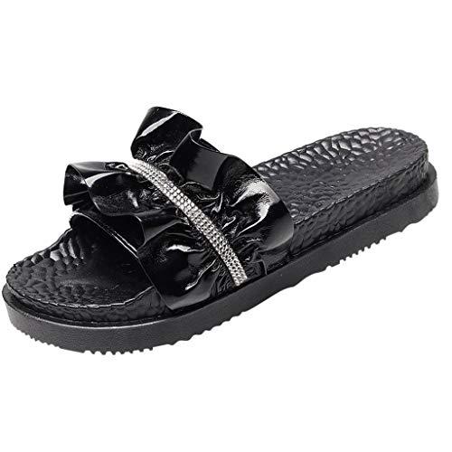 in Vendita! Pantofole da Donna A Punta Aperta Scarpe da Spiaggia Traspiranti Scarpe con Volant Comode Infradito Comode Pantofole da Esterno per Pavimento per Donna/Ragazza Kinlene