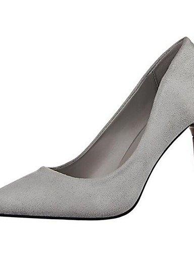 WSS 2016 Chaussures Femme-Soirée & Evénement-Noir / Rose / Rouge / Gris / Bordeaux-Talon Aiguille-Talons-Talons-Synthétique gray-us5 / eu35 / uk3 / cn34