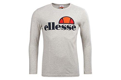 Ellesse Longsleeve Grazie, Größe:L, Farbe:oatmeal marl (Crewneck T-shirt Marl)
