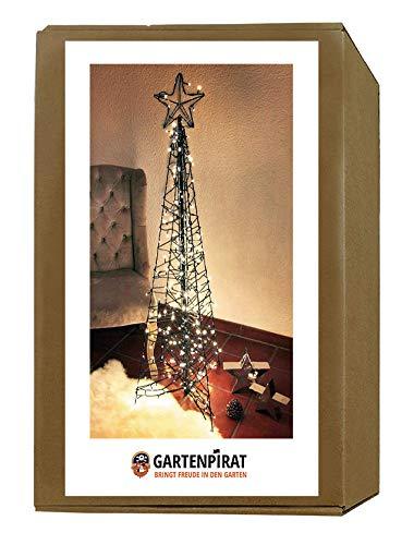 Gartenpirat Moderner Weihnachtsbaum 160 cm Metall/Lichterketten 264 LED