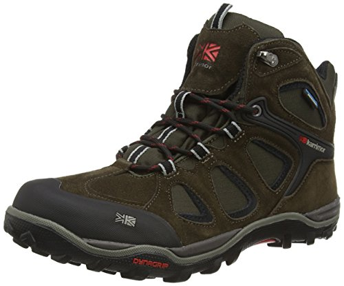 Karrimor Toledo Weathertite, High Rise Hiking, Scarpe da Uomo, Colore Nero (Black/Red), Taglia 11 UK (45 EU)