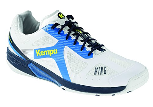 Kempa Herren Wing LITE Handballschuhe, Weiß (Blanco Fair/Azul Mar 000), 42 EU