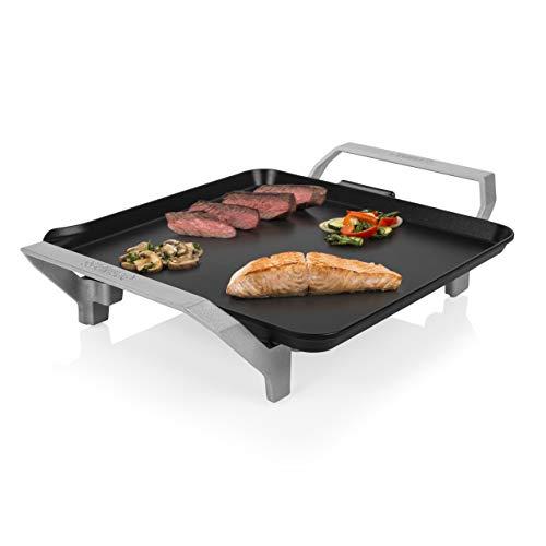 Princess Table Chef Premium 103090 Compacta, Plancha Mini Cuadrada, Alta Potencia