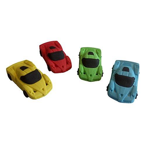 4x Auto Sportwagen Radiergummi Set