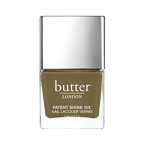 butter LONDON Patent Shine 10X Nail Lacquer British Khaki -