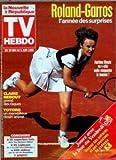 tv hebdo la nouvelle republique du 22 05 1998 roland garros annee des surprises martina hingis claire nebout prend des risques totoro dessin anim