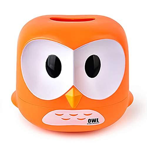 Eule Tissue Box Toilettenpapier Abdeckung Fall Serviettenhalter Auto Dekor,Orange