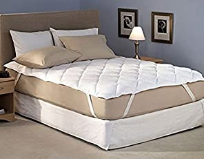 Avighna Micro Cotton Dust Waterproof Double Bed Mattress Protector (White, 72-78-inches)