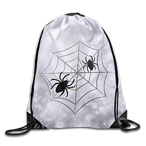 Roue Halloween Spider Web Unisex Gym Drawstring Shoulder Bag Backpack String Bags