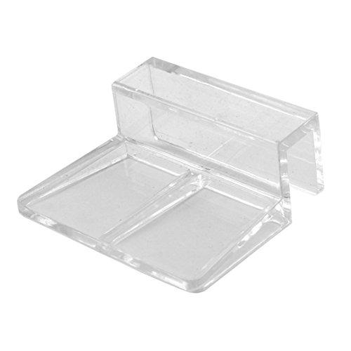sourcingmap® Kunststoff Aquarium Tank 10mm Dicke Glas Abdeckung Halter Cliphilfe klar