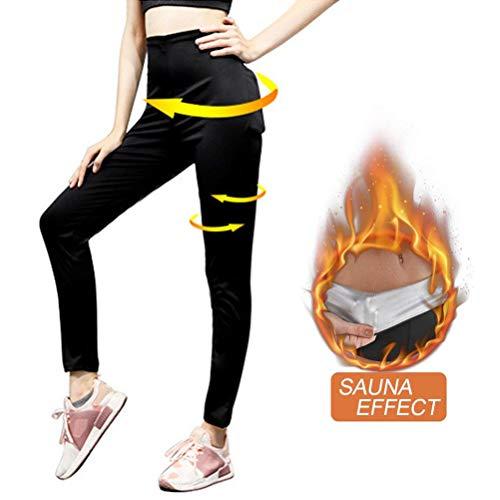 Womens Gewichtsverlust Hosen Sauna Hosen Schwitzhose für Frauen Fettverbrennung abnehmen Hosen Hot Thermo Neopren Sweat Sauna Body Shaper Abnehmen Knöchellangen Hosen S-3XLXL