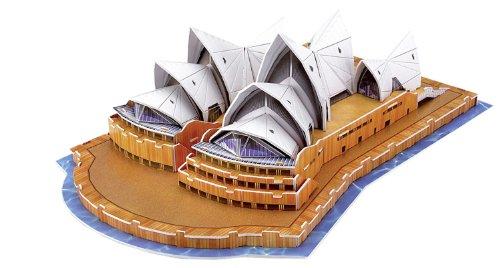 folia 34005 - 3D-Modellogic, Opera House - Sydney, 58 Teile - Detailgetreue Nachbildung aus vorgestanztem, verstärkten Karton zum Zusammenstecken - Sydney Opera House
