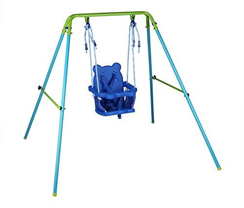 Blue Folding Swing Outdoor Indoor Swing Toddler Swing