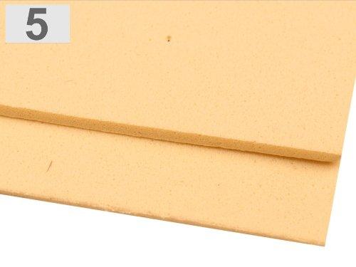 Preisvergleich Produktbild Moosgummi Platten, 20 Stück ca. 20x30cm DIN A4 in verschiedenen Farben - wählbar (5 - creme)