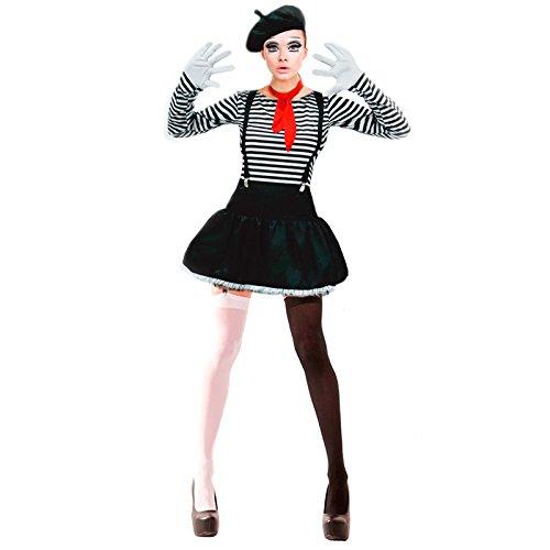 Disfraz Mimo mujer adulto para Carnaval L