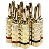 Monoprice High-Quality Closed Screw Type Copper Speaker Banana Plug (Pair of 5)