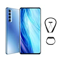 OPPO Reno4 Pro Smartphone, 8GB RAM, 256GB (Galactic Blue) + Gift Box contains Bluetooth Neckband and Fitness band