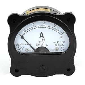 AC / DC 0-50A fijnafstelling Dial panel analoge ampèremeter ampèremeter