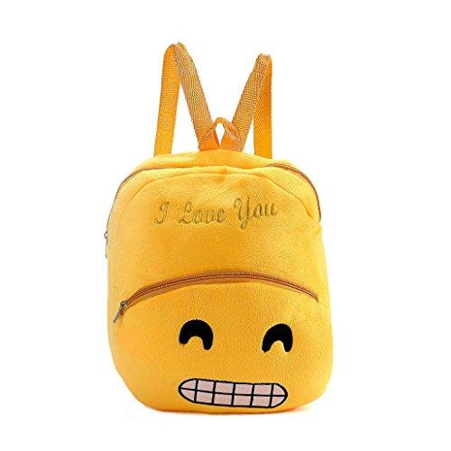 ZARU Nette Emoji Emoticon Schulter Schule-Kind-Beutel F