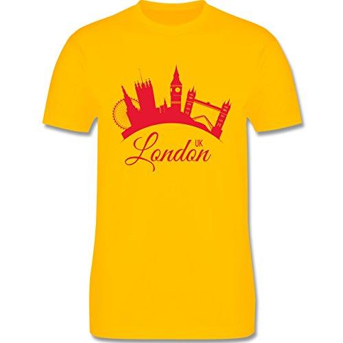 Skyline - Skyline London UK England - Herren Premium T-Shirt Gelb