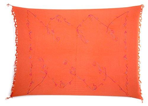 Beste Auswahl Großer Premium Sarong Pareo Wickelrock Strandtuch Schal  Handtuch Wickelrock Lachs