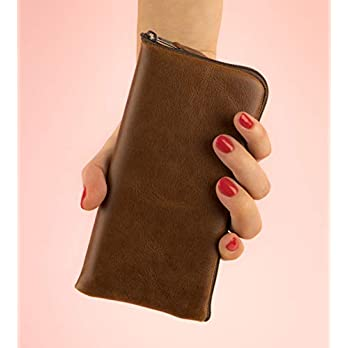 Leder Tasche für iPhone 11 Pro Max mit Reißverschluss