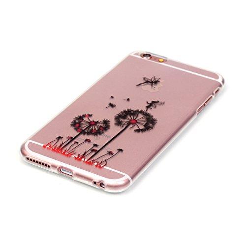 iPhone 6 Coque, iPhone 6S Coque, Lifeturt [ Ours ] Housse Anti-dérapante Absorbant Chocs Protection Etui Silicone Gel TPU Bumper Case pour Apple iPhone 6s / 6 E02-Pissenlit