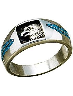 Indianerschmuck Sterling Silber Ring Adler Eagle