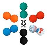 Zen Core Massage Duoball Original - Twinball Faszienrolle in Verschiedenen Farben aus Lacrosseball Hartgummi, Größe 13 x 6 cm für die Anwendung zur Triggerpunkt- und Faszienmassage/Physiotherapie