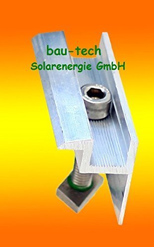 Pv-modul (4 Modul Endklemmen 40mm von bau-tech Solarenergie)