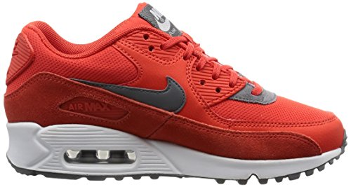 Nike Wmns Air Max 90 Prem, Entraînement de course femme Orange (Max Orange/cool Grey/white/mtlc Silver)