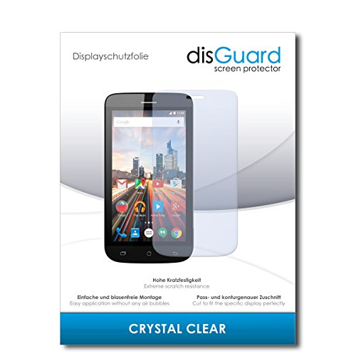 disGuard® Bildschirmschutzfolie [Crystal Clear] kompatibel mit Archos 40 Helium [4 Stück] Kristallklar, Transparent, Unsichtbar, Extrem Kratzfest, Anti-Fingerabdruck - Panzerglas Folie, Schutzfolie