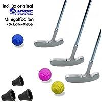 Golfas Mini Set Family–9Piezas (con 3x Original Shore Mini Pelota Equipo de fútbol) y 3x Mini Pick-up