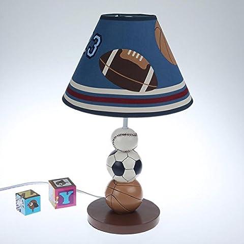 Kinder Kreativ Cartoon Boy Basketball Fußball Tisch Lampe Bett Nachttisch Lampen Dimmable Light , B