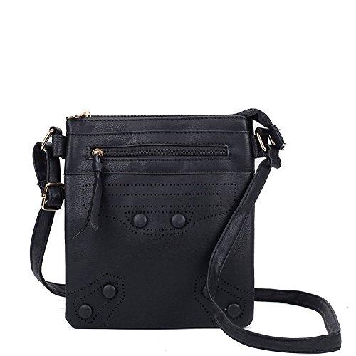 1928af89b7 SALLY YOUNG Fashion Women High Quality PU Leather Cross Body Bag Nice Bags  (Black)