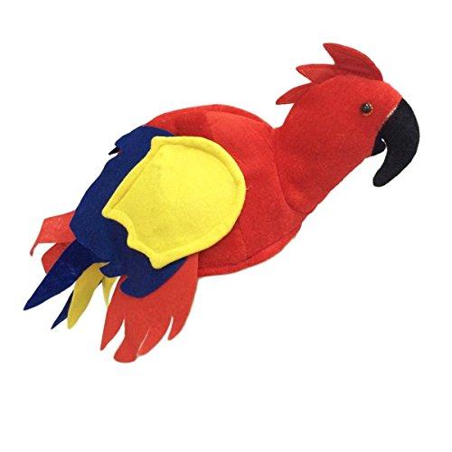 Tinksky Papagei Hut Kopfbedeckung Jimmy Buffet Hut Neuheit Vogel Hut Halloween Kostüm tropischen Themenparty begünstigt ()