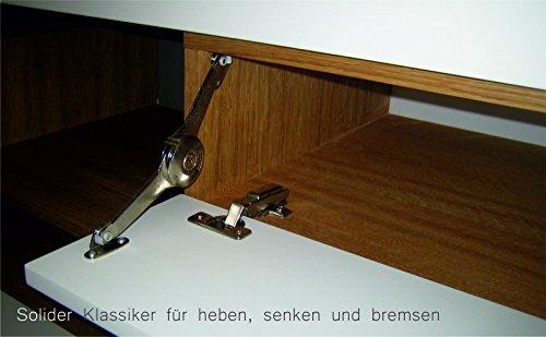 KITOON Sideboard/Lowboard (B 171 H 38 T 48 cm), Fußgestell, Nuß geölt (Echtholzfurnier) - 4