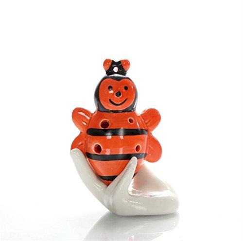 TOUYOUIOPNG Musikalisches pädagogisches Spielzeug Bee 6 Löcher Ocarina Instruments Crafts Dekorationen Schmuck ohne Handpflege (rot)