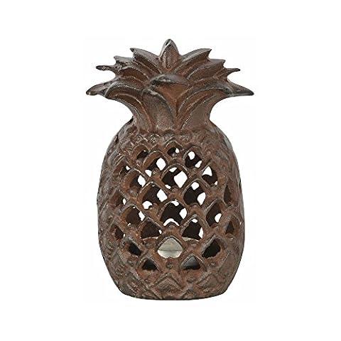 Fallen Fruits Cast Iron Pineapple Outdoor Tealight Candle Holder Lantern