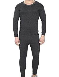 Younky Unisex Winters Woolen Thermal Wear Top - Bottom Set for Men, Women, Boys & Girls (TH-1717) - 1 Upper Lower Inner Set
